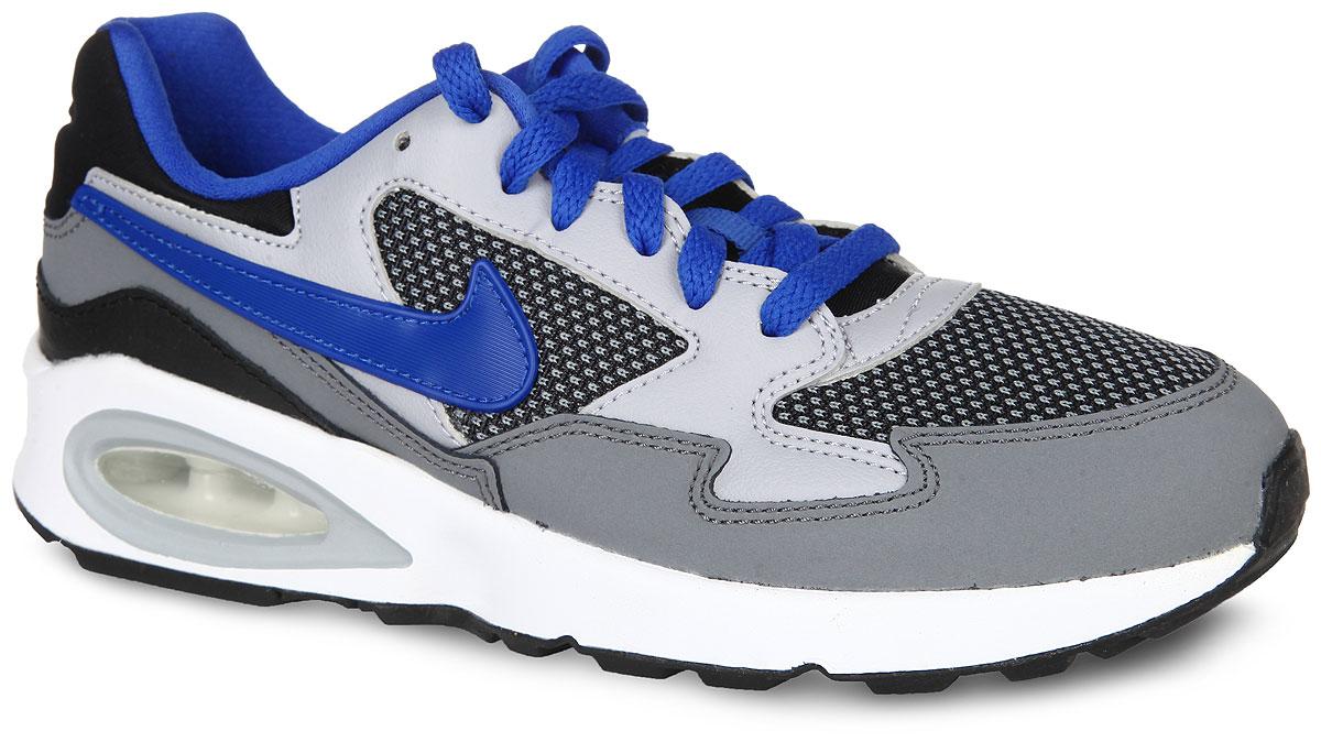 654288-006Стильные кроссовки Nike Air Max ST от Nike выполнены из сетчатого текстиля и дополнены вставками из натуральной и синтетической кожи. Задник оформлен фирменным тиснением. Удобная шнуровка надежно фиксирует модель на стопе. Стелька из EVA с текстильной поверхностью обеспечивает комфорт. Воздушная камера Air-Sole в пятке амортизирует каждый шаг. Полноразмерная промежуточная подошва из полиуретана обеспечивает стабильность и поддержку стопы. Рельефный рисунок протектора обеспечивает исключительно надежное сцепление с разными поверхностями. В таких кроссовках вашим ногам будет комфортно и уютно.