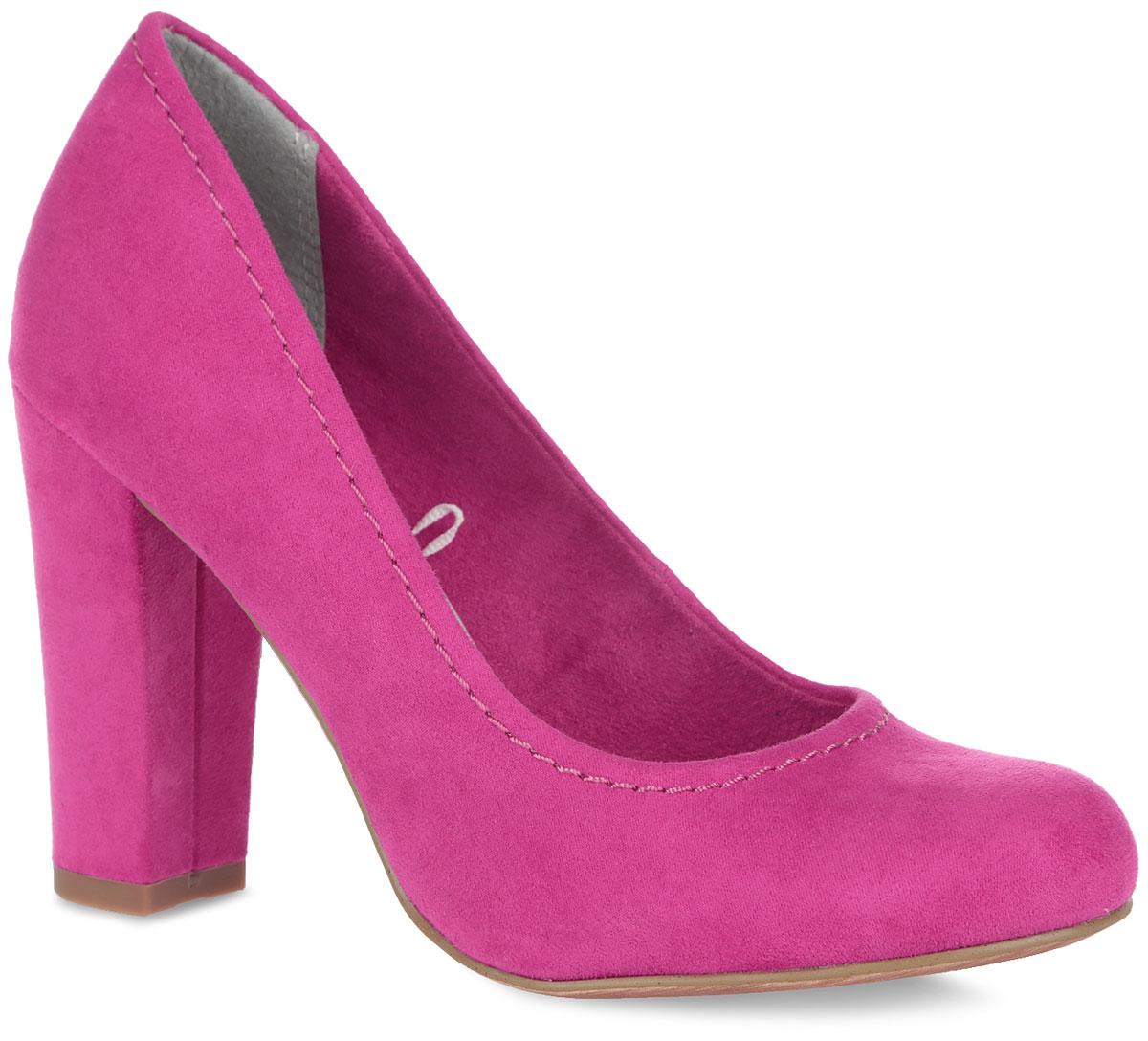 2-2-22425-26-341Оригинальные женские туфли от Marco Tozzi покорят вас с первого взгляда. Модель выполнена из приятного на ощупь текстильного материала и декорирована по канту прострочкой. Текстильная подкладка и стелька, изготовленная из искусственной кожи, обеспечивают дополнительный комфорт и предотвращают натирание. Закругленный носок смотрится невероятно женственно. Высокий каблук устойчив. Подошва оснащена рифлением для лучшей сцепки. Модные туфли займут достойное место среди вашей коллекции обуви.