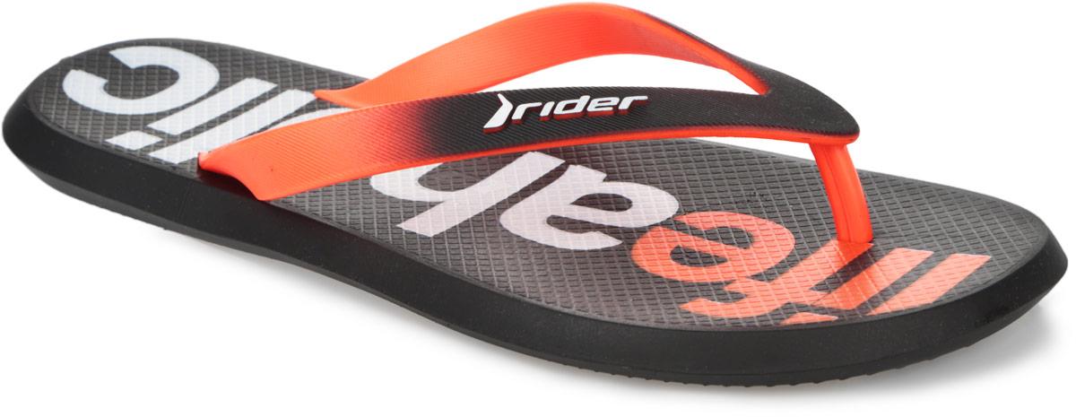 Сланцы мужские Energy V AD FF. 8175381753-24204Комфортные мужские сланцы Energy V AD FF от Rider очаруют вас с первого взгляда. Модель полностью выполнена из поливинилхлорида. Сланцы снабжены ремешками с перемычкой, которые гарантируют надежную фиксацию на ноге. Внутренняя поверхность подошвы оформлена рельефом, который предотвращает выскальзывание ноги, и надписью. Рифление на подошве обеспечивает уверенное сцепление с любой поверхностью. Удобные сланцы прекрасно подойдут для похода в бассейн или на пляж.