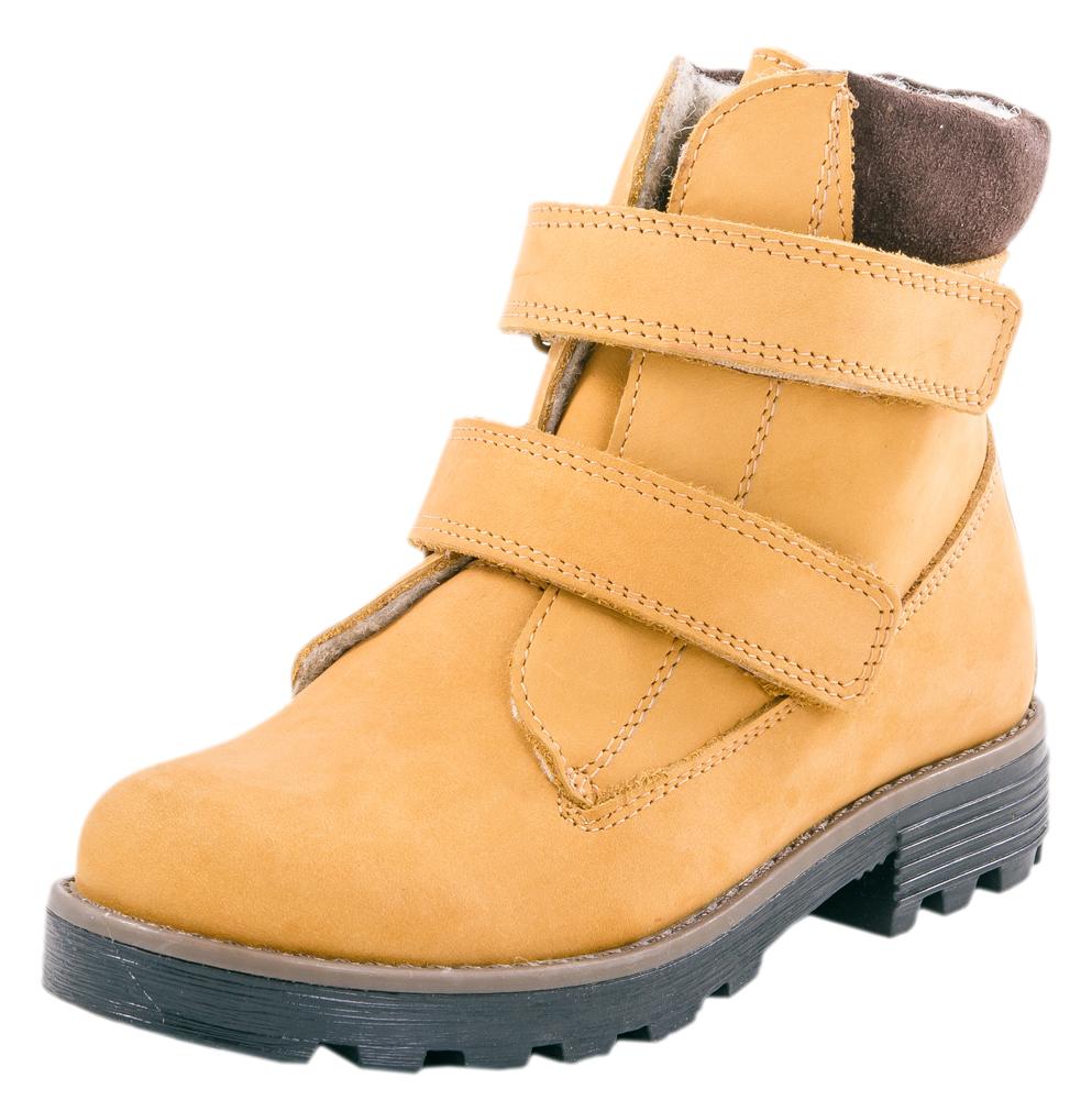 Ботинки для мальчика. 552042-33552042-33Модель выполнена из натурального бука с гидрофобной пропиткой. Удобная застежка-две липучки позволяет надежно зафиксировать обувь на стопе, легко обувать и снимать ботинки. Подкладка выполнена из байки. Мягкий манжет из велюра создает комфорт при ходьбе и предотвращает натирание ножки ребенка. Прочная подошва с небольшим каблуком не позволит проникнуть холоду внутрь обуви.