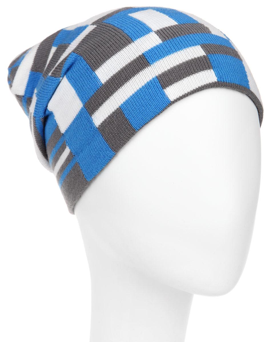 Шапка для мальчика. RTH5710RTH5710_013Великолепная шапка Elfrio отлично подходит для активных и жизнерадостных мальчиков. Выполненная в оригинальной цветовой гамме из акрила и эластана, шапка максимально сохраняет тепло и обеспечивает удобную посадку, невероятную легкость и мягкость. Двухслойную шапку можно носить как с отворотом, так и без. Такая модель будет актуальна как на спортивных мероприятиях, так и в повседневной жизни. Уважаемые клиенты! Размер, доступный для заказа, является обхватом головы.