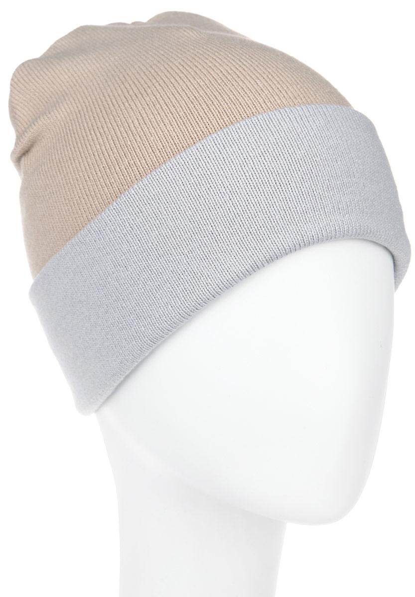 Шапка женская. RLH5723RLH5723_003/114Удлиненная женская шапка Elfrio отлично дополнит ваш образ в холодную погоду. Сочетание акрила и эластана максимально сохраняет тепло и обеспечивает удобную посадку, невероятную легкость и мягкость. Двухстороннюю двухцветную шапку можно носить как с отворотом, так и без. Стильная шапка Elfrio подчеркнет ваш неповторимый стиль и индивидуальность. Такая модель будет актуальна как на спортивных мероприятиях, так и в повседневной жизни. Уважаемые клиенты! Размер, доступный для заказа, является обхватом головы.