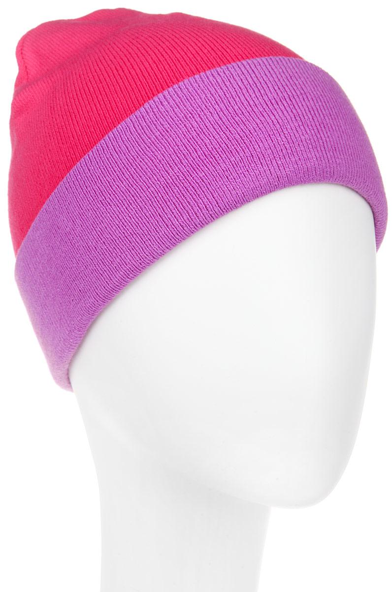 RLH5723_003/114Удлиненная женская шапка Elfrio отлично дополнит ваш образ в холодную погоду. Сочетание акрила и эластана максимально сохраняет тепло и обеспечивает удобную посадку, невероятную легкость и мягкость. Двухстороннюю двухцветную шапку можно носить как с отворотом, так и без. Стильная шапка Elfrio подчеркнет ваш неповторимый стиль и индивидуальность. Такая модель будет актуальна как на спортивных мероприятиях, так и в повседневной жизни. Уважаемые клиенты! Размер, доступный для заказа, является обхватом головы.