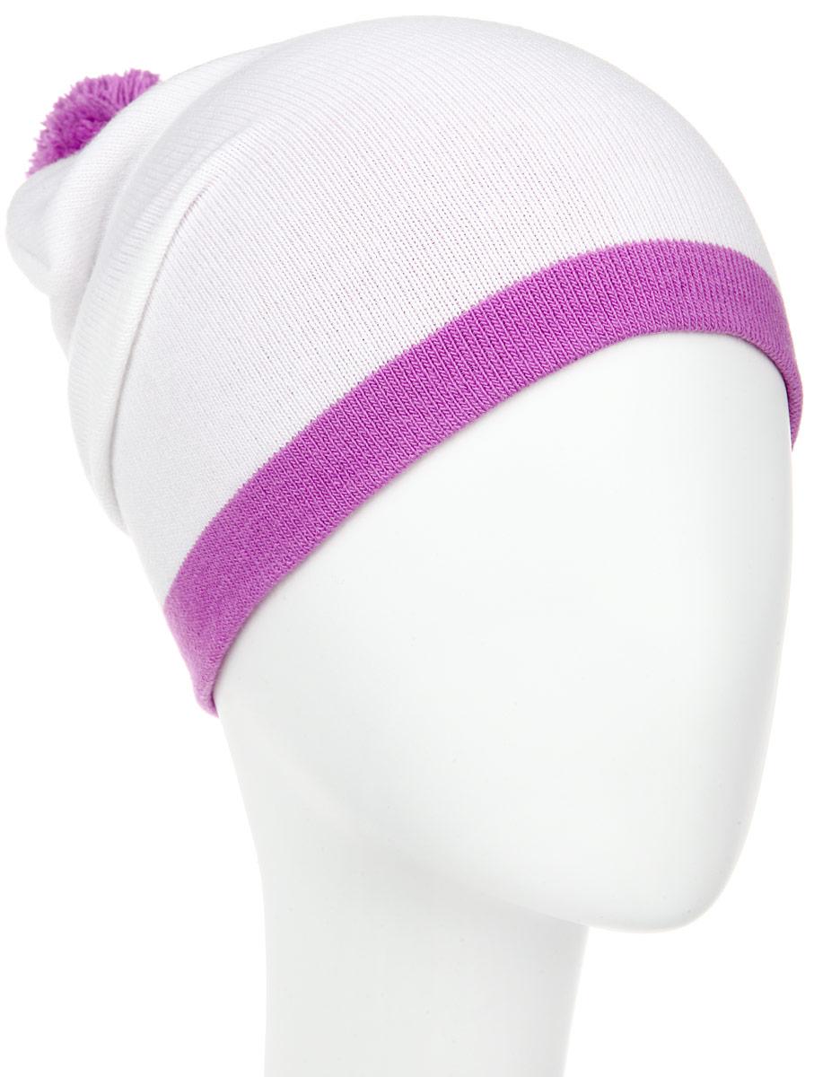ШапкаRLH5722_048/086Стильная женская шапка Elfrio отлично дополнит ваш образ в холодную погоду. Сочетание акрила и эластана максимально сохраняет тепло и обеспечивает удобную посадку, невероятную легкость и мягкость. Модель дополнена небольшим помпоном. Двухслойную шапку можно носить как с отворотом, так и без. Стильная шапка Elfrio подчеркнет ваш неповторимый стиль и индивидуальность. Такая модель будет актуальна как на спортивных мероприятиях, так и в повседневной жизни. Уважаемые клиенты! Размер, доступный для заказа, является обхватом головы.