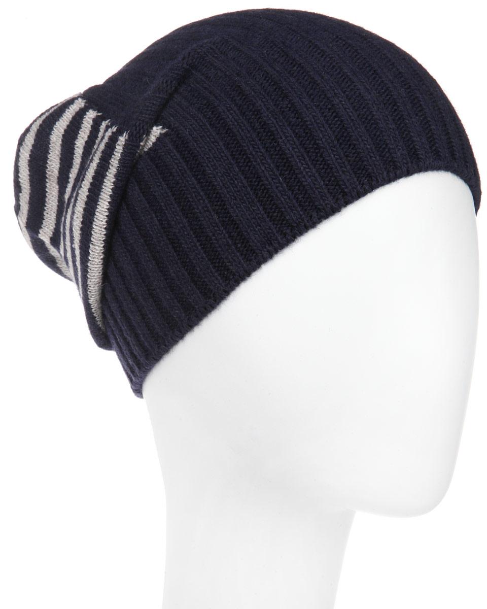 MMH5631_005Стильная мужская шапка Marhatter отлично дополнит ваш образ в холодную погоду. Выполненная в оригинальной цветовой гамме из пряжи с содержанием кашемира и шерсти мериноса, шапка максимально сохраняет тепло и обеспечивает удобную посадку, невероятную легкость и мягкость. Модель оформлена вязанным принтом в полоску и дополнена небольшим металлическим декоративным элементом. Удлиненная шапка Marhatter подчеркнет ваш неповторимый стиль и индивидуальность. Уважаемые клиенты! Размер, доступный для заказа, является обхватом головы.