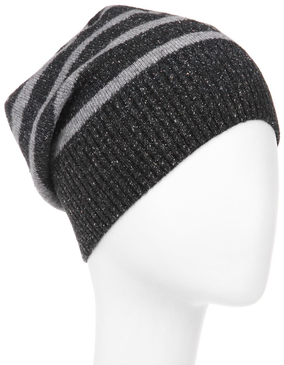 ШапкаMMH5626_002Стильная мужская шапка Marhatter отлично дополнит ваш образ в холодную погоду. Выполненная в оригинальной цветовой гамме из пряжи с содержанием акрила и шерсти мериноса, шапка максимально сохраняет тепло и обеспечивает удобную посадку, невероятную легкость и мягкость. Модель оформлена вязанным принтом в полоску и украшена кожаной нашивкой с тиснением. Стильная шапка Marhatter подчеркнет ваш неповторимый стиль и индивидуальность. Уважаемые клиенты! Размер, доступный для заказа, является обхватом головы.
