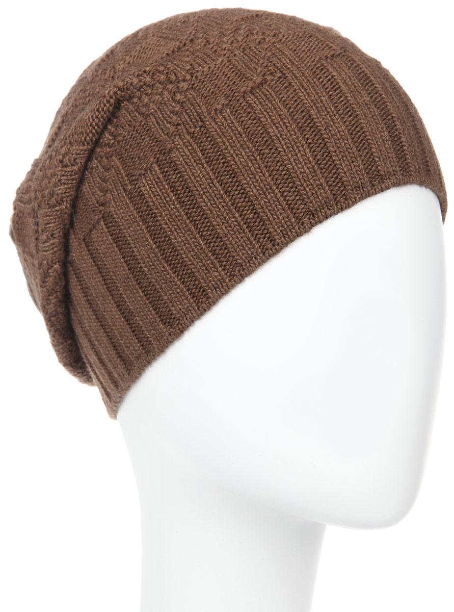 ШапкаMMH5625_026Стильная мужская шапка Marhatter отлично дополнит ваш образ в холодную погоду. Выполненная в оригинальной цветовой гамме из пряжи с содержанием кашемира и шерсти мериноса, шапка максимально сохраняет тепло и обеспечивает удобную посадку, невероятную легкость и мягкость. Модель украшена кожаной нашивкой с тиснением. Стильная шапка Marhatter подчеркнет ваш неповторимый стиль и индивидуальность. Уважаемые клиенты! Размер, доступный для заказа, является обхватом головы.