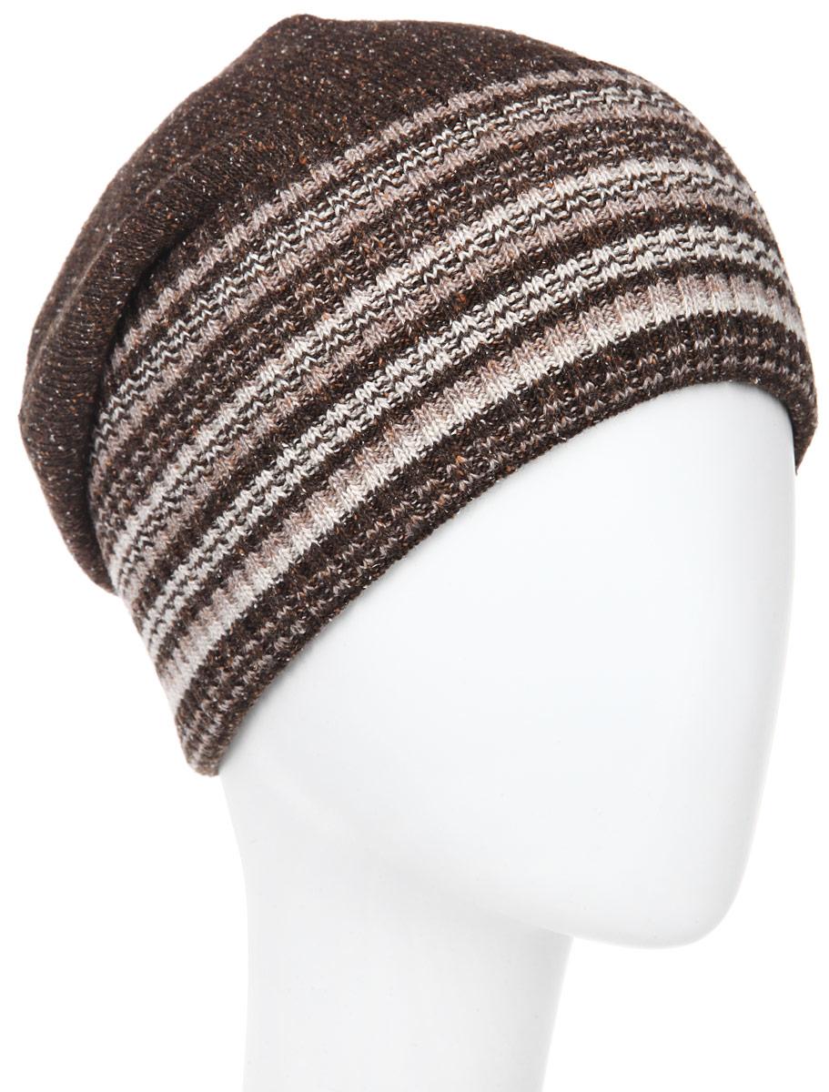 ШапкаMMH5671_026Стильная мужская шапка Marhatter отлично дополнит ваш образ в холодную погоду. Модель обладает модным дизайном, который будет актуальным как на спортивных мероприятиях, так и в повседневной жизни. Сочетание шерсти и акрила максимально сохраняет тепло и обеспечивает удобную посадку, невероятную легкость и мягкость. Модель оформлена отворотом с вязаным принтом в полоску и декорирована металлическим бейджем с символикой бренда. Стильная шапка Marhatter подчеркнет ваш неповторимый стиль и индивидуальность. Уважаемые клиенты! Размер, доступный для заказа, является обхватом головы.