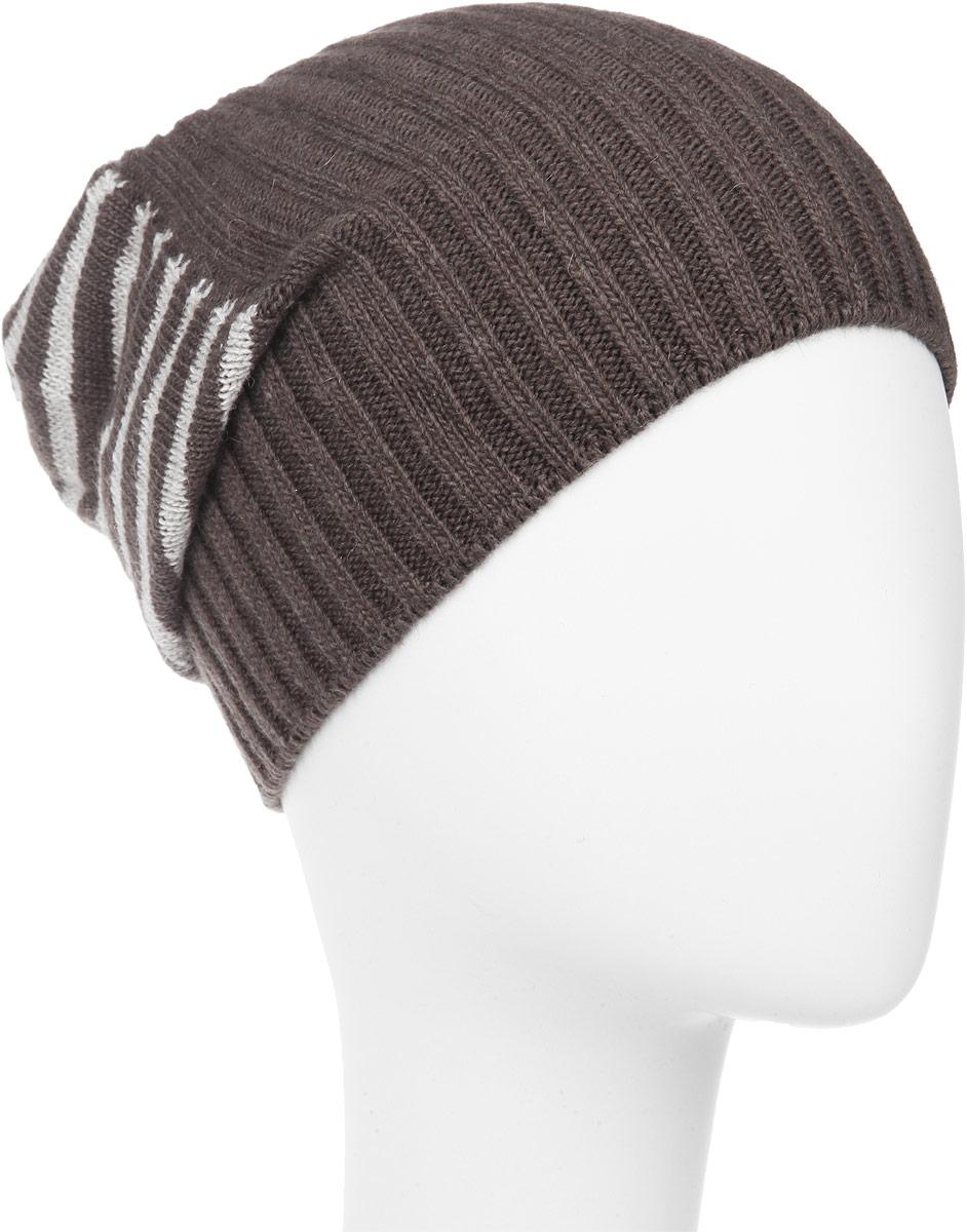 ШапкаMMH5631_005Стильная мужская шапка Marhatter отлично дополнит ваш образ в холодную погоду. Выполненная в оригинальной цветовой гамме из пряжи с содержанием кашемира и шерсти мериноса, шапка максимально сохраняет тепло и обеспечивает удобную посадку, невероятную легкость и мягкость. Модель оформлена вязанным принтом в полоску и дополнена небольшим металлическим декоративным элементом. Удлиненная шапка Marhatter подчеркнет ваш неповторимый стиль и индивидуальность. Уважаемые клиенты! Размер, доступный для заказа, является обхватом головы.