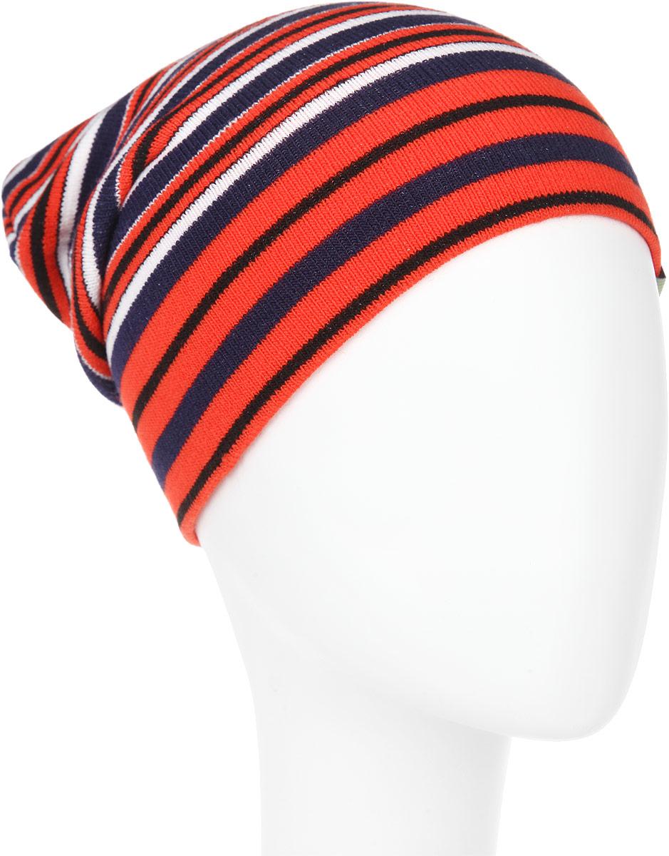 ШапкаRTH5709_005Великолепная шапка Elfrio отлично подходит для активных и жизнерадостных мальчиков. Выполненная в оригинальной цветовой гамме из акрила и эластана, шапка максимально сохраняет тепло и обеспечивает удобную посадку, невероятную легкость и мягкость. Модель оформлена вязаным принтом в полоску и дополнена текстильной нашивкой с названием бренда. Стильная шапка Elfrio подчеркнет ваш неповторимый стиль и индивидуальность. Уважаемые клиенты! Размер, доступный для заказа, является обхватом головы.