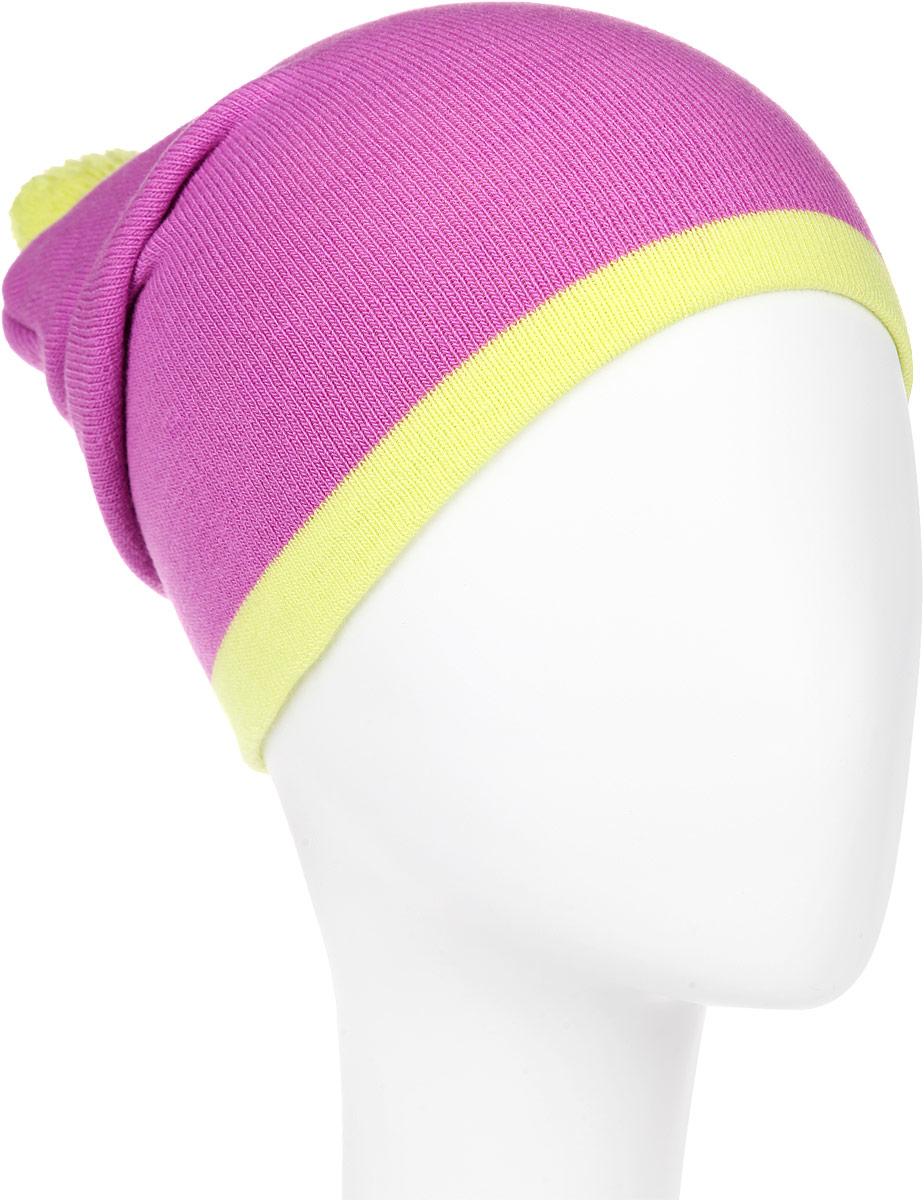 Шапка женская. RLH5722RLH5722_048/086Стильная женская шапка Elfrio отлично дополнит ваш образ в холодную погоду. Сочетание акрила и эластана максимально сохраняет тепло и обеспечивает удобную посадку, невероятную легкость и мягкость. Модель дополнена небольшим помпоном. Двухслойную шапку можно носить как с отворотом, так и без. Стильная шапка Elfrio подчеркнет ваш неповторимый стиль и индивидуальность. Такая модель будет актуальна как на спортивных мероприятиях, так и в повседневной жизни. Уважаемые клиенты! Размер, доступный для заказа, является обхватом головы.