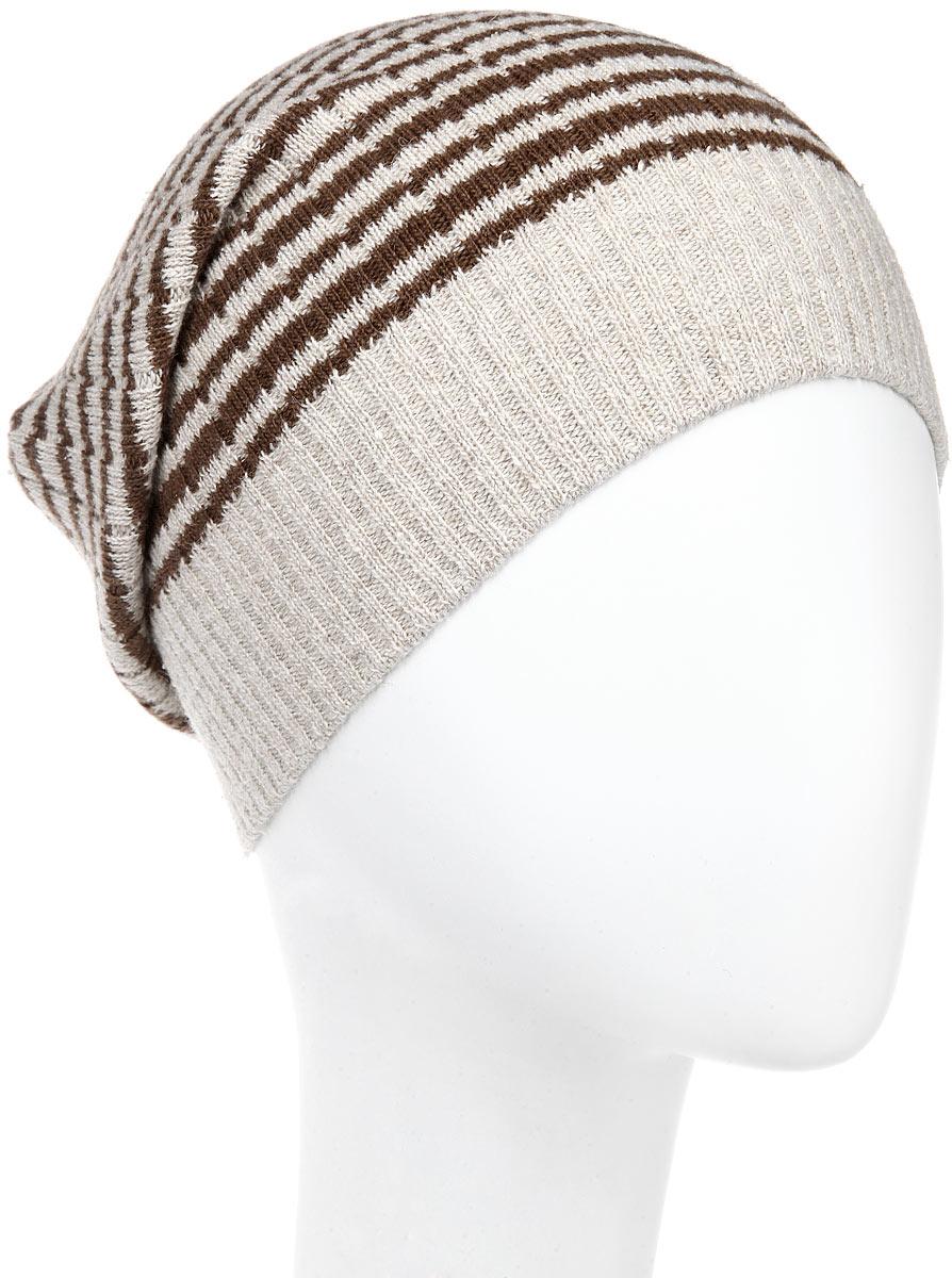 Шапка мужская. MMH0MMH0_008Стильная мужская шапка Marhatter отлично дополнит ваш образ в холодную погоду. Выполненная в оригинальной цветовой гамме из пряжи с содержанием шерсти, шелка и акрила, шапка максимально сохраняет тепло и обеспечивает удобную посадку, невероятную легкость и мягкость. Модель оформлена вязаным принтом в полоску и украшена кожаной нашивкой с тиснением. Стильная шапка Marhatter подчеркнет ваш неповторимый стиль и индивидуальность. Уважаемые клиенты! Размер, доступный для заказа, является обхватом головы.