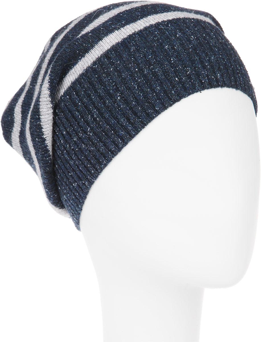 Шапка мужская. MMH5626MMH5626_002Стильная мужская шапка Marhatter отлично дополнит ваш образ в холодную погоду. Выполненная в оригинальной цветовой гамме из пряжи с содержанием акрила и шерсти мериноса, шапка максимально сохраняет тепло и обеспечивает удобную посадку, невероятную легкость и мягкость. Модель оформлена вязанным принтом в полоску и украшена кожаной нашивкой с тиснением. Стильная шапка Marhatter подчеркнет ваш неповторимый стиль и индивидуальность. Уважаемые клиенты! Размер, доступный для заказа, является обхватом головы.