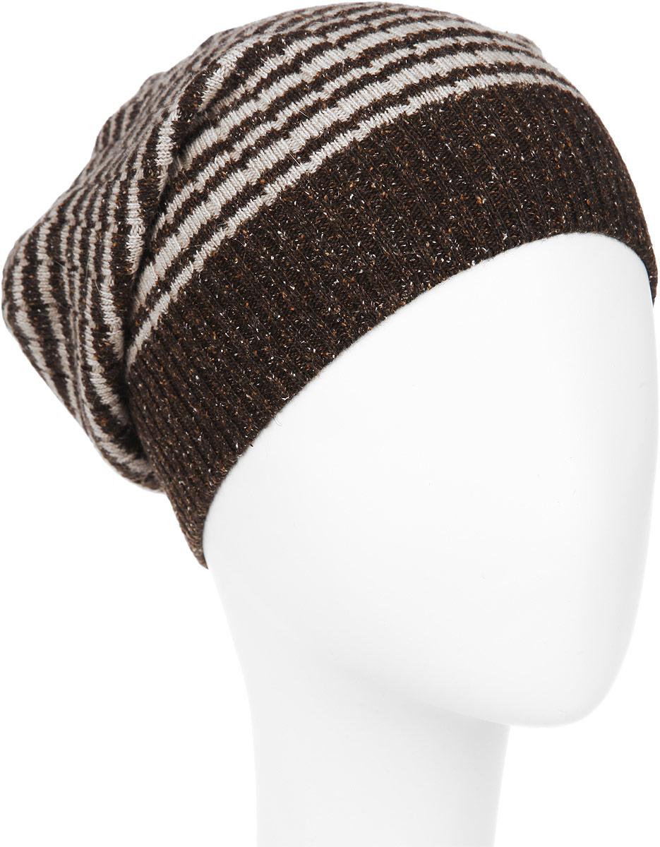 ШапкаMMH0_008Стильная мужская шапка Marhatter отлично дополнит ваш образ в холодную погоду. Выполненная в оригинальной цветовой гамме из пряжи с содержанием шерсти, шелка и акрила, шапка максимально сохраняет тепло и обеспечивает удобную посадку, невероятную легкость и мягкость. Модель оформлена вязаным принтом в полоску и украшена кожаной нашивкой с тиснением. Стильная шапка Marhatter подчеркнет ваш неповторимый стиль и индивидуальность. Уважаемые клиенты! Размер, доступный для заказа, является обхватом головы.