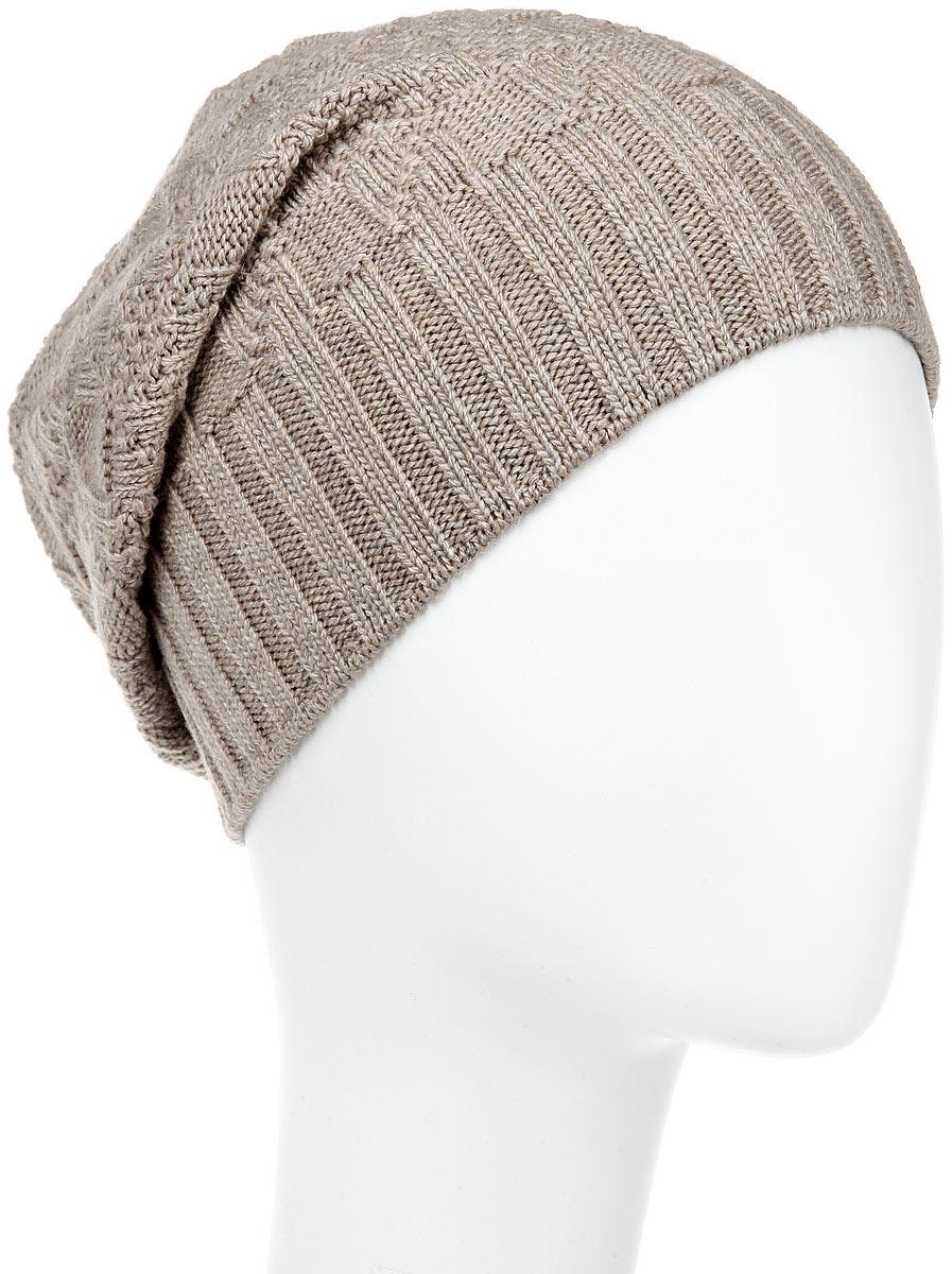 Шапка мужская. MMH5625MMH5625_026Стильная мужская шапка Marhatter отлично дополнит ваш образ в холодную погоду. Выполненная в оригинальной цветовой гамме из пряжи с содержанием кашемира и шерсти мериноса, шапка максимально сохраняет тепло и обеспечивает удобную посадку, невероятную легкость и мягкость. Модель украшена кожаной нашивкой с тиснением. Стильная шапка Marhatter подчеркнет ваш неповторимый стиль и индивидуальность. Уважаемые клиенты! Размер, доступный для заказа, является обхватом головы.