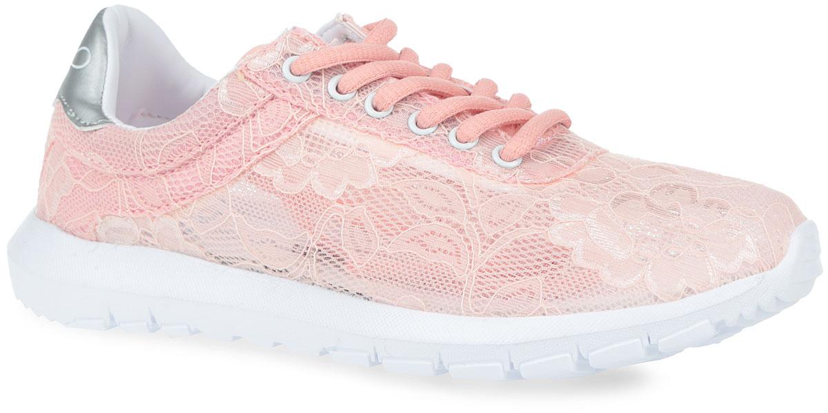 257-7201T-16s-8/01-10Очаровательные женские кроссовки не оставят вас равнодушной. Модель выполнена из легкого сетчатого текстиля, оформленного цветочной вышивкой. Классическая шнуровка в области подъема гарантирует надежную фиксацию обуви на ноге. Подкладка, изготовленная из комбинации искусственной кожи и текстиля, обеспечивает дополнительный комфорт и предотвращает натирание. Стелька из ЭВА материала с верхним покрытием из текстиля. Задник дополнен кожаной нашивкой, оформленной тиснением в виде логотипа бренда. Подошва оснащена рифлением для лучшей сцепки с поверхностью. Оригинальные кроссовки займут достойное место в вашем гардеробе.