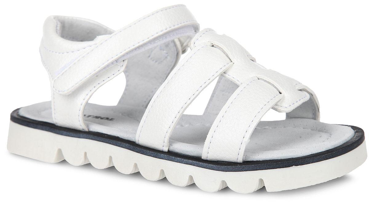 992-170NK-16s-01-10Прелестные сандалии от Patrol придутся по душе вашей девочке! Модель изготовлена из искусственной кожи. Ремешок с застежкой-липучкой прочно закрепит модель на ножке. Внутренняя поверхность и стелька из натуральной кожи комфортны при ходьбе. Стелька дополнена супинатором, который обеспечивает правильное положение ноги ребенка при ходьбе. Подошва с протектором обеспечивает отличное сцепление с поверхностью. Практичные и стильные сандалии займут достойное место в гардеробе вашей девочки.