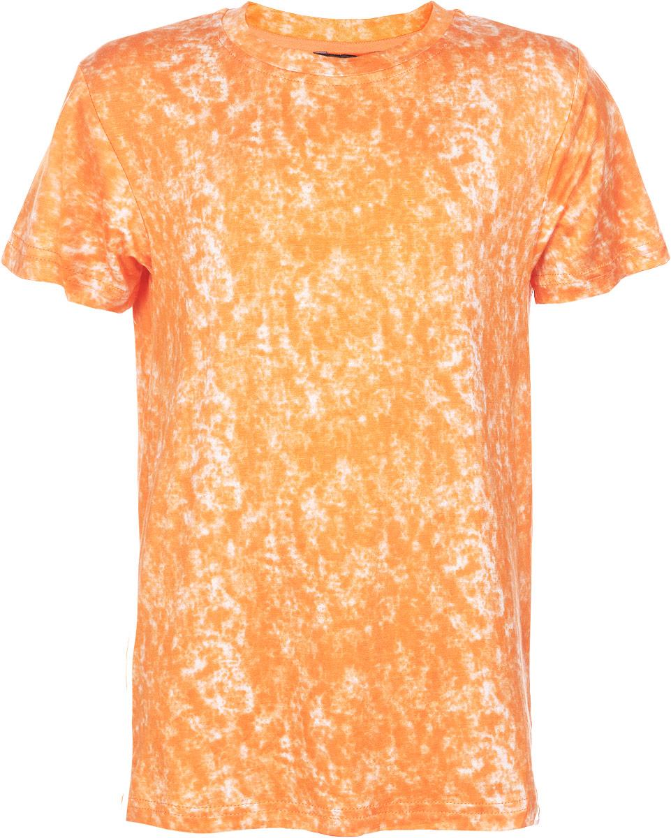Футболка для мальчика. 196749196749Яркая футболка для мальчика Luminoso идеально подойдет вашему маленькому непоседе. Изготовленная из хлопка с небольшим добавлением эластана, она необычайно мягкая и приятная на ощупь, не сковывает движения и позволяет коже дышать, не раздражает даже самую нежную и чувствительную кожу ребенка, обеспечивая ему наибольший комфорт. Футболка с круглым вырезом горловины оформлена мраморным эффектом. Вырез горловины дополнен трикотажной эластичной резинкой. Низ изделия декорирован нашивкой логотипа бренда. Современный дизайн и расцветка делают эту футболку стильным предметом детского гардероба. В ней ваш ребенок будет чувствовать себя уютно и комфортно и всегда будет в центре внимания!