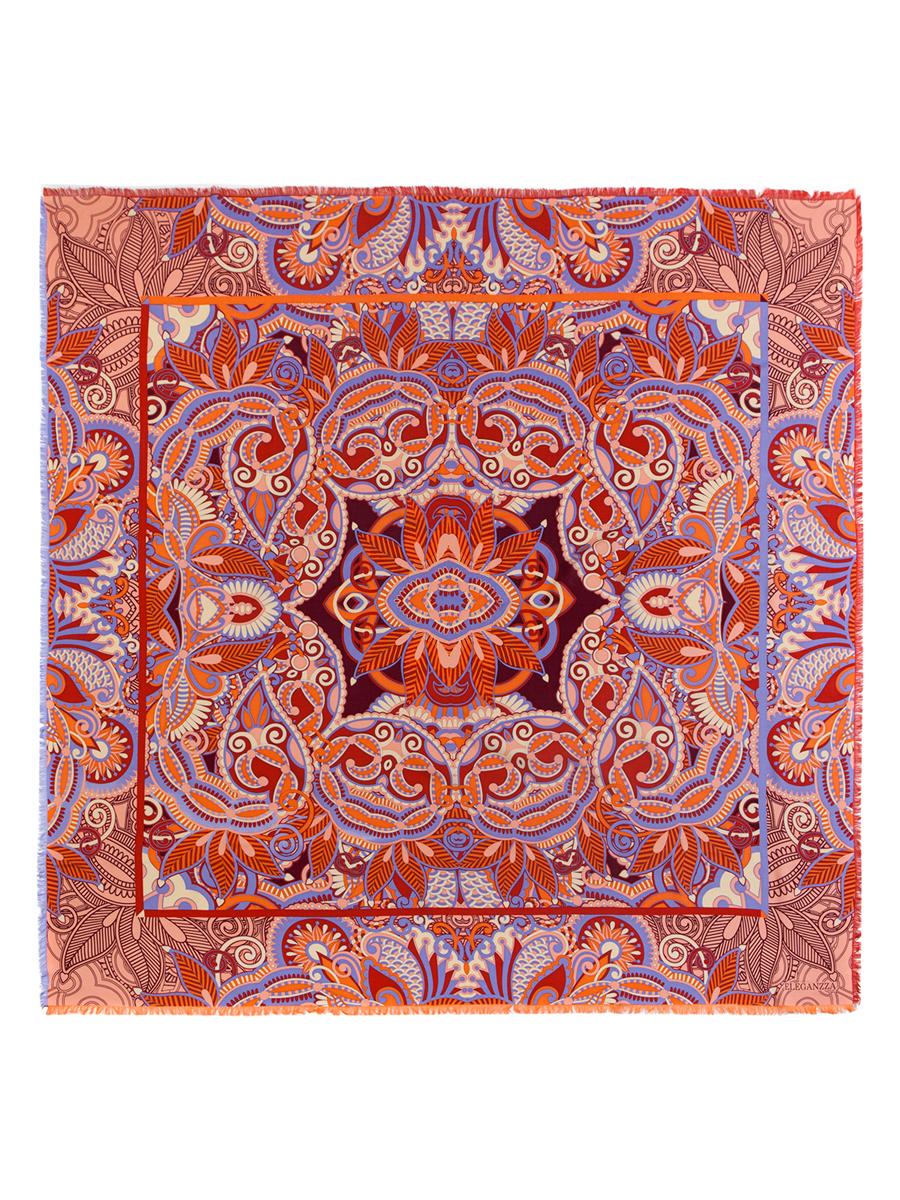 ПлатокD34-1191Стильный женский платок Eleganzza станет великолепным завершением любого наряда. Платок изготовлен из шелка и вискозы, оформлен оригинальным орнаментом и по кроям дополнен бахромой. Такой платок превосходно дополнит любой наряд и подчеркнет ваш неповторимый вкус и элегантность.