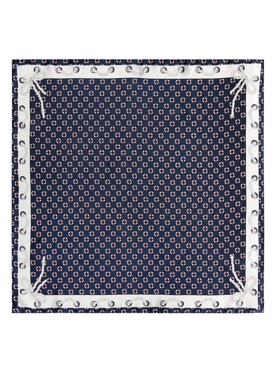 ПлатокE03-7101Стильный женский платок Eleganzza станет великолепным завершением любого наряда. Платок изготовлен из высококачественного шелка и оформлен оригинальным орнаментом в морской тематике. Классическая квадратная форма позволяет носить платок на шее, украшать им прическу или декорировать сумочку. Мягкий и шелковистый платок поможет вам создать изысканный женственный образ, а также согреет в непогоду. Такой платок превосходно дополнит любой наряд и подчеркнет ваш неповторимый вкус и элегантность.