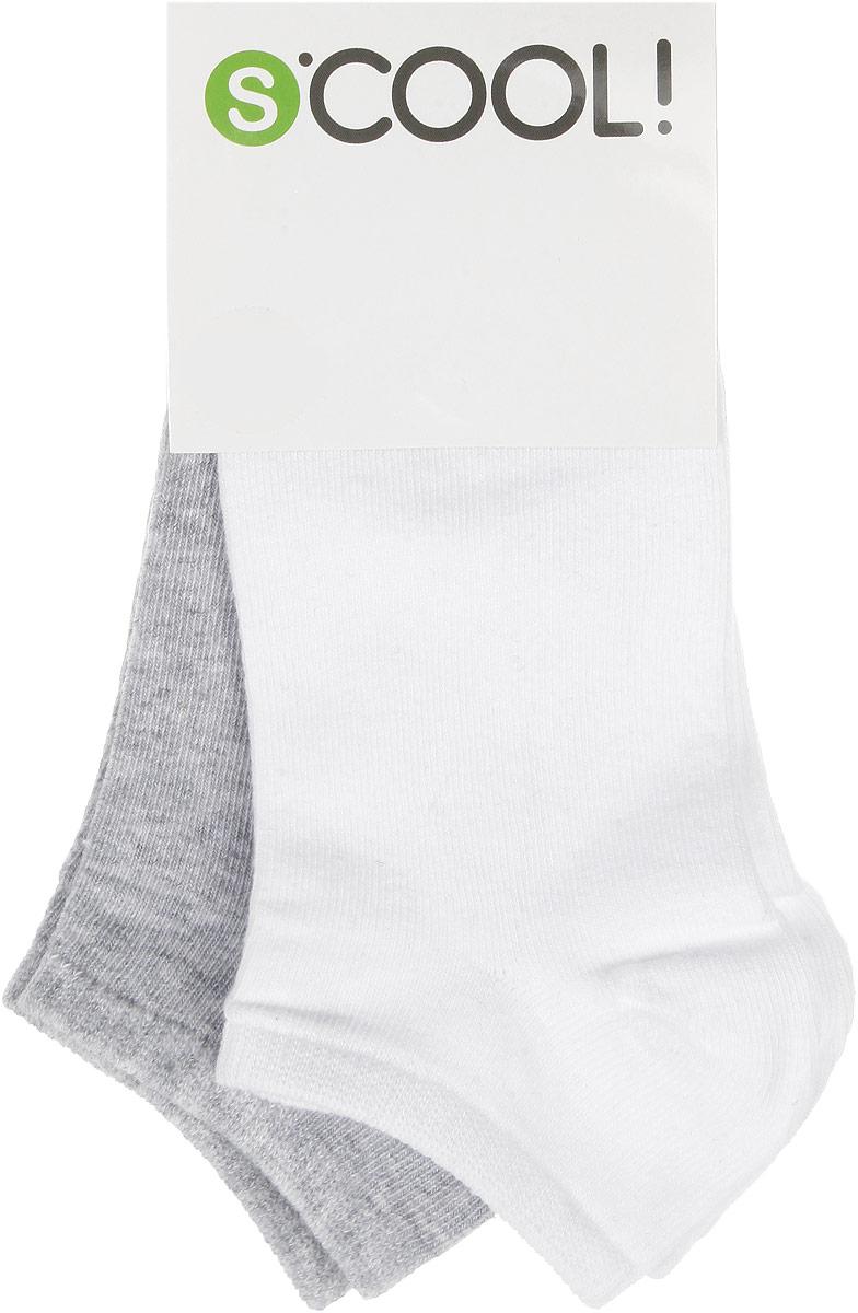 Носки для девочки, 2 пары. 164077164077Носки для девочки Scool, изготовленные из высококачественного материала, идеально подойдут вашему ребенку. Эластичная резинка плотно облегает ножку ребенка, не сдавливая ее, благодаря чему ему будет комфортно и удобно. Усиленная пятка и мысок обеспечивают надежность и долговечность. В комплект входят две пары носочков.