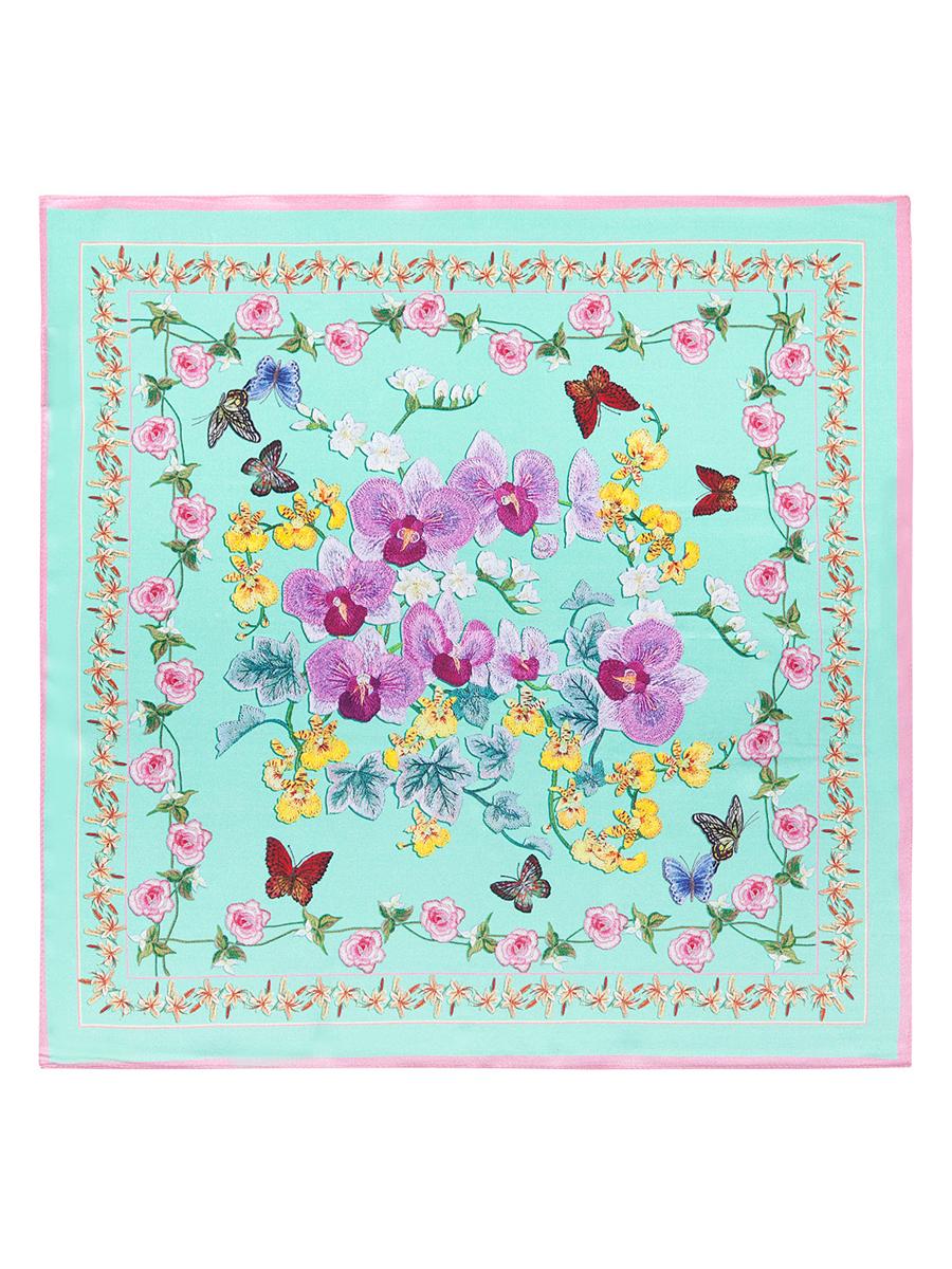 Платок женский. SS03-7779SS03-7779Стильный женский платок Eleganzza станет великолепным завершением любого наряда. Платок изготовлен из высококачественного шелка и оформлен оригинальным цветочным рисунком. Классическая квадратная форма позволяет носить платок на шее, украшать им прическу или декорировать сумочку. Такой платок превосходно дополнит любой наряд и подчеркнет ваш неповторимый вкус и элегантность.