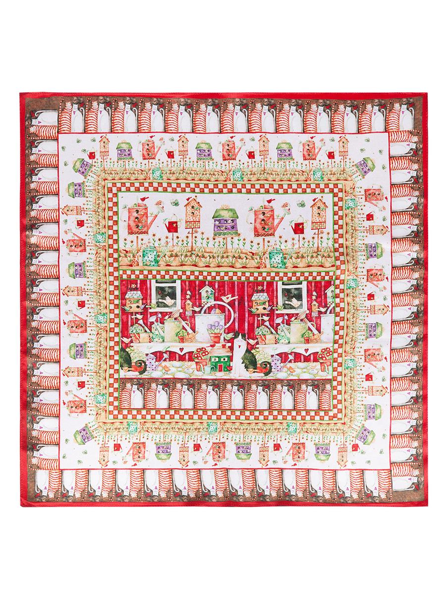 Платок женский. SS03-7782SS03-7782Стильный женский платок Eleganzza станет великолепным завершением любого наряда. Платок изготовлен из высококачественного шелка и оформлен оригинальным принтом. Классическая квадратная форма позволяет носить платок на шее, украшать им прическу или декорировать сумочку. Такой платок превосходно дополнит любой наряд и подчеркнет ваш неповторимый вкус и элегантность.