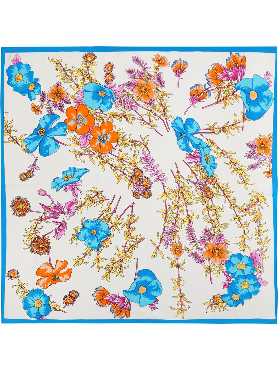 ПлатокSS03-7785Стильный женский платок Eleganzza станет великолепным завершением любого наряда. Платок изготовлен из высококачественного шелка и оформлен оригинальным цветочным принтом. Классическая квадратная форма позволяет носить платок на шее, украшать им прическу или декорировать сумочку. Такой платок превосходно дополнит любой наряд и подчеркнет ваш неповторимый вкус и элегантность.