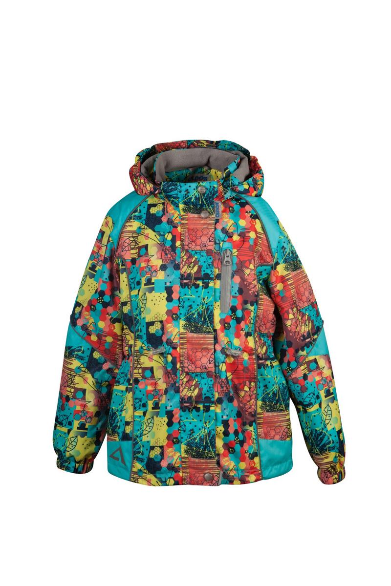 Куртка для девочки Аврора. 16/OA-3JK40216/OA-3JK402-2Куртка для девочки Oldos Active Аврора идеально подойдет для вашего ребенка в холодное время года. Куртка изготовлена из водонепроницаемой и ветрозащитной ткани. Водо- и грязеотталкивающее покрытие Teflon повышает износостойкость модели, что обеспечит ей хороший внешний вид на всем протяжении носки. Благодаря пропитке грязь не проникает в ткань, и ее легко смыть под струей воды или стереть влажной салфеткой. Нанесенная с изнаночной стороны ткани мембрана 3000/3000 позволяет дышать - отводит излишнюю влагу наружу, поддерживая комфортную для тела ребенка атмосферу. Куртка рассчитана на температуру от -5°С до +15°С. Куртка с капюшоном и небольшим воротником-стойкой застегивается на пластиковую застежку-молнию и дополнительно имеет двойную ветрозащитную планку с защитой подбородка. Внешний ветрозащитный клапан на застежках-кнопках и липучках. Подкладка курточки (кроме рукавов) выполнена из теплого мягкого флиса. Капюшон, присборенный по бокам на резинки, пристегивается с помощью...
