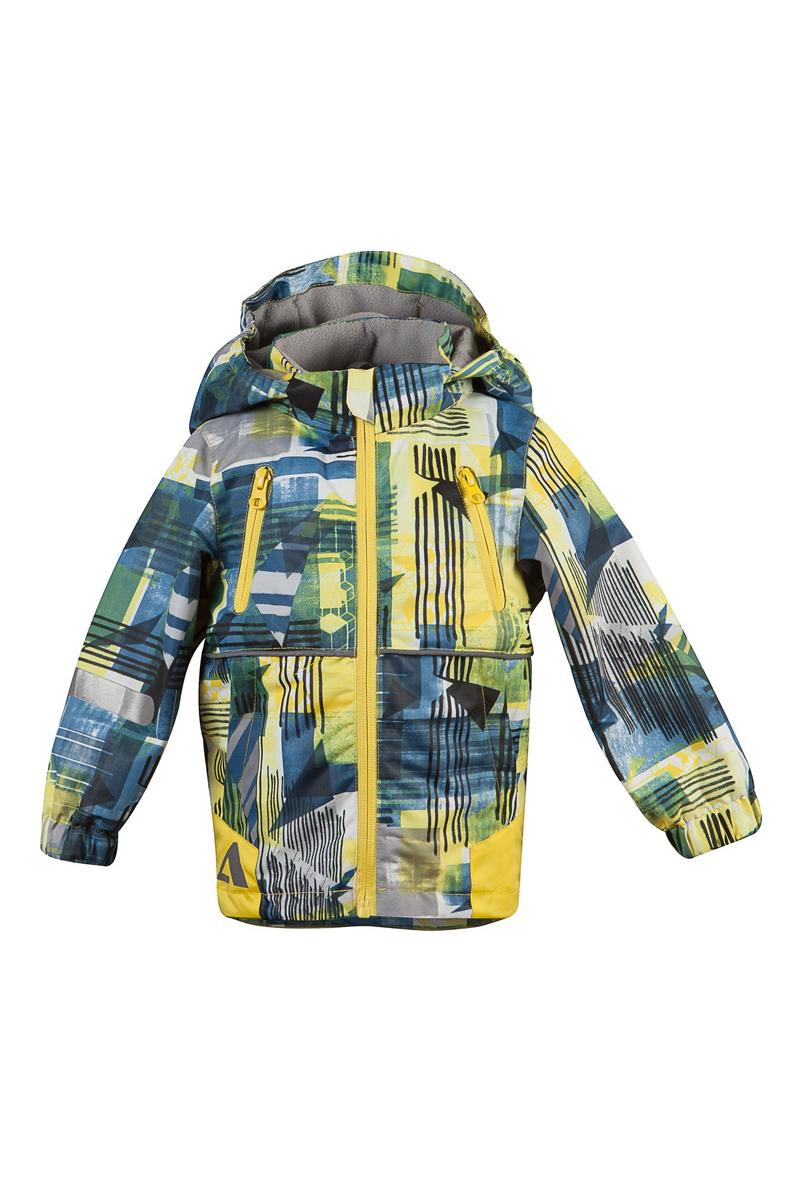 Куртка16/OA-3JK409Куртка для мальчика Oldos Active Клоди идеально подойдет для вашего ребенка в холодное время года. Куртка изготовлена из водонепроницаемой и ветрозащитной ткани. Водо- и грязеотталкивающее покрытие Teflon повышает износостойкость модели, что обеспечит ей хороший внешний вид на всем протяжении носки. Благодаря пропитке грязь не проникает в ткань, и ее легко смыть под струей воды или стереть влажной салфеткой. Нанесенная с изнаночной стороны ткани мембрана 3000/3000 позволяет дышать - отводит излишнюю влагу наружу, поддерживая комфортную для тела ребенка атмосферу. Куртка рассчитана на температуру от -5°С до +15°С. Куртка с капюшоном и небольшим воротником-стойкой застегивается на пластиковую застежку-молнию и дополнительно имеет ветрозащитную планку с защитой подбородка. Подкладка курточки (кроме рукавов) выполнена из теплого мягкого флиса. Капюшон, присборенный по бокам на резинки, пристегивается с помощью застежки-молнии и застежек-кнопок. Для большего комфорта на подкладках...