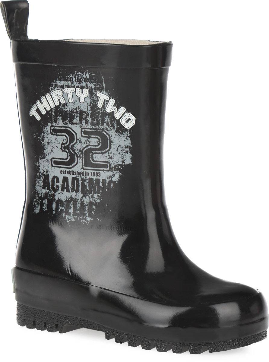 101510Прелестные резиновые сапоги от Bebendorff - идеальная обувь в дождливую погоду для вашего мальчика. Сапоги, выполненные из резины, оформлены на боковой части голенища изображением надписей и числа, на заднике - названием бренда. Внутренняя поверхность из хлопка и съемная стелька из EVA с текстильной поверхностью комфортны при ходьбе. Ярлычок на заднике облегчает обувание модели. Каблук и подошва с протектором гарантируют отличное сцепление с любой поверхностью. Резиновые сапоги - необходимая вещь в гардеробе каждого мальчика.