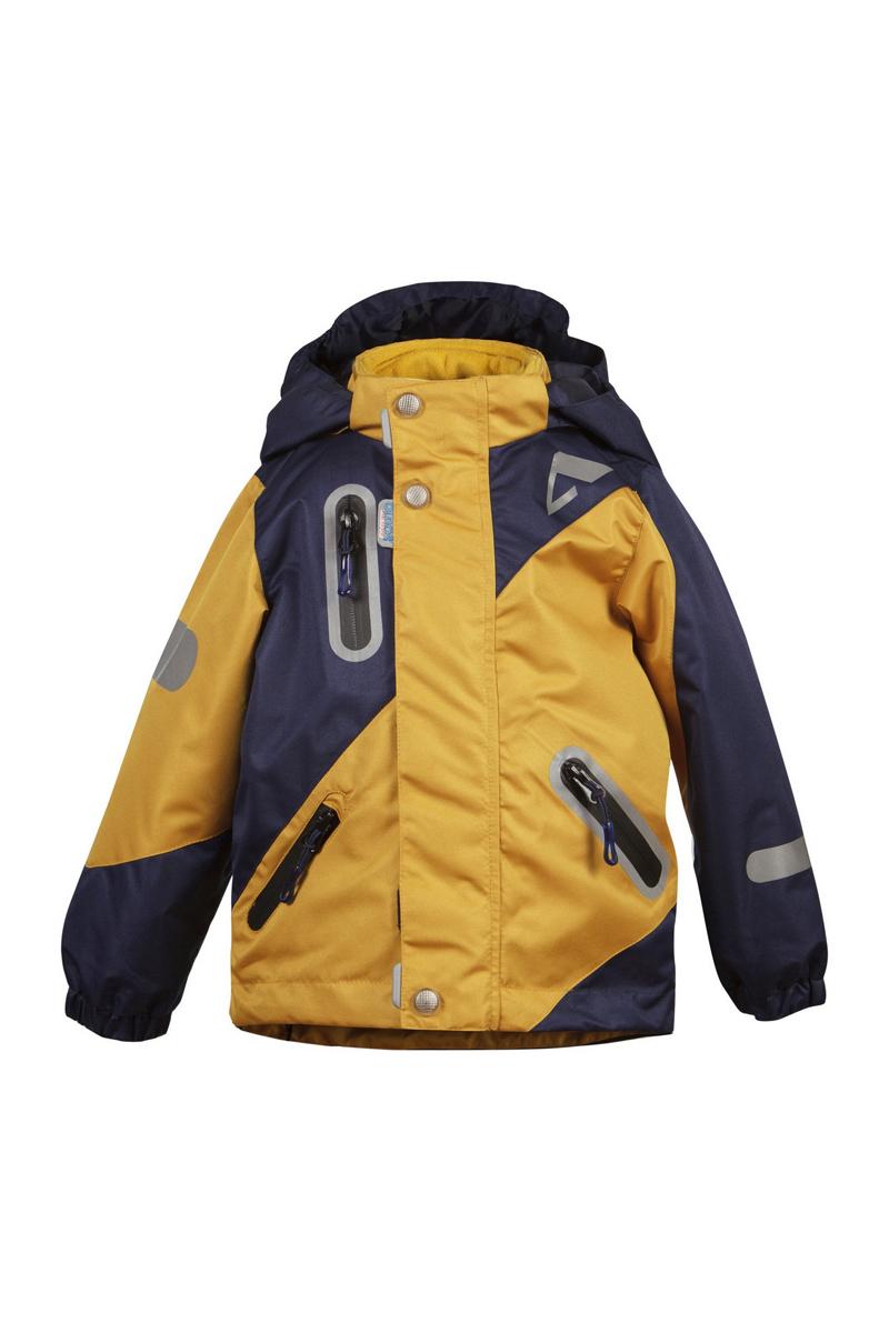 Куртка для мальчика Кай. 16/OA-3JK41016/OA-3JK410-1Куртка для мальчика Oldos Active Кай идеально подойдет для вашего ребенка в холодное время года. Куртка изготовлена из водонепроницаемой и ветрозащитной ткани. Водо- и грязеотталкивающее покрытие Teflon повышает износостойкость модели, что обеспечит ей хороший внешний вид на всем протяжении носки. Благодаря пропитке грязь не проникает в ткань, и ее легко смыть под струей воды или стереть влажной салфеткой. Нанесенная с изнаночной стороны ткани мембрана 3000/3000 позволяет дышать - отводит излишнюю влагу наружу, поддерживая комфортную для тела ребенка атмосферу. Куртка рассчитана на температуру от -5°С до +15°С. Куртка с капюшоном и небольшим воротником-стойкой застегивается на пластиковую застежку-молнию и дополнительно имеет двойную ветрозащитную планку и защиту подбородка. Внешний ветрозащитный клапан на застежках-кнопках и липучках. Подкладка курточки выполнена из теплого мягкого флиса в виде отстегивающейся кофточки на застежке-молнии с двумя втачными кармашками (можно...
