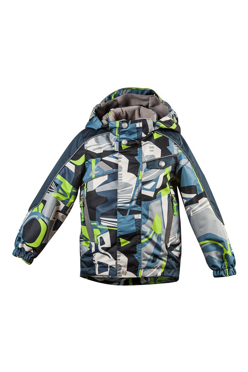 Куртка для мальчика Нарден. 16/OA-3JK41116/OA-3JK411Куртка для мальчика Oldos Active Нарден идеально подойдет для вашего ребенка в холодное время года. Куртка изготовлена из водонепроницаемой и ветрозащитной ткани. Водо- и грязеотталкивающее покрытие Teflon повышает износостойкость модели, что обеспечит ей хороший внешний вид на всем протяжении носки. Благодаря пропитке грязь не проникает в ткань, и ее легко смыть под струей воды или стереть влажной салфеткой. Нанесенная с изнаночной стороны ткани мембрана 3000/3000 позволяет дышать - отводит излишнюю влагу наружу, поддерживая комфортную для тела ребенка атмосферу. Куртка рассчитана на температуру от -5°С до +15°С благодаря утеплителю 80 г/м2. В качестве наполнителя используется полиэстер. Куртка с капюшоном и небольшим воротником-стойкой застегивается на пластиковую застежку-молнию и дополнительно имеет двойную ветрозащитную планку с защитой подбородка. Внешний ветрозащитный клапан на застежках-кнопках и липучках. Подкладка курточки (кроме рукавов) выполнена из теплого мягкого...