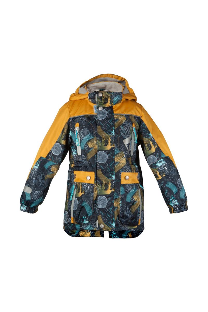 Куртка для мальчика Мирон. 16/OA-3JK41216/OA-3JK412Куртка для мальчика Oldos Active Мирон идеально подойдет для вашего ребенка в холодное время года. Куртка изготовлена из водонепроницаемой и ветрозащитной ткани. Водо- и грязеотталкивающее покрытие Teflon повышает износостойкость модели, что обеспечит ей хороший внешний вид на всем протяжении носки. Благодаря пропитке грязь не проникает в ткань, и ее легко смыть под струей воды или стереть влажной салфеткой. Нанесенная с изнаночной стороны ткани мембрана 3000/3000 позволяет дышать - отводит излишнюю влагу наружу, поддерживая комфортную для тела ребенка атмосферу. Куртка рассчитана на температуру от -5°С до +15°С. Куртка с капюшоном и небольшим воротником-стойкой застегивается на пластиковую застежку-молнию и дополнительно имеет двойную ветрозащитную планку и защиту подбородка. Внешний ветрозащитный клапан на застежках-кнопках и липучках. Подкладка курточки (кроме рукавов) выполнена из теплого мягкого флиса. Капюшон, присборенный по бокам на резинки,...