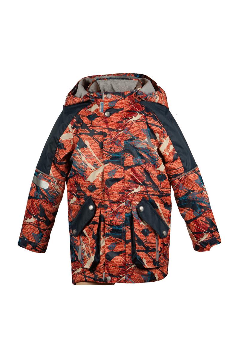 Куртка для мальчика Неймар. 16/OA-3JK41316/OA-3JK413Куртка для мальчика Oldos Active Неймар идеально подойдет для вашего ребенка в холодное время года. Куртка изготовлена из водонепроницаемой и ветрозащитной ткани. Водо- и грязеотталкивающее покрытие Teflon повышает износостойкость модели, что обеспечит ей хороший внешний вид на всем протяжении носки. Благодаря пропитке грязь не проникает в ткань, и ее легко смыть под струей воды или стереть влажной салфеткой. Нанесенная с изнаночной стороны ткани мембрана 3000/3000 позволяет дышать - отводит излишнюю влагу наружу, поддерживая комфортную для тела ребенка атмосферу. Куртка рассчитана на температуру от -5°С до +15°С благодаря утеплителю 80 г/м2. В качестве наполнителя используется полиэстер. Куртка с капюшоном и небольшим воротником-стойкой застегивается на пластиковую застежку-молнию и дополнительно имеет двойную ветрозащитную планку с защитой подбородка. Внешний ветрозащитный клапан на застежках-кнопках и липучках. Подкладка курточки (кроме рукавов) выполнена из теплого мягкого...