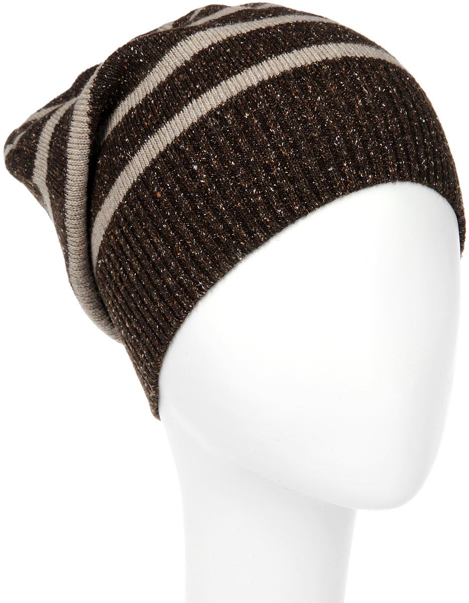 MMH5626_002Стильная мужская шапка Marhatter отлично дополнит ваш образ в холодную погоду. Выполненная в оригинальной цветовой гамме из пряжи с содержанием акрила и шерсти мериноса, шапка максимально сохраняет тепло и обеспечивает удобную посадку, невероятную легкость и мягкость. Модель оформлена вязанным принтом в полоску и украшена кожаной нашивкой с тиснением. Стильная шапка Marhatter подчеркнет ваш неповторимый стиль и индивидуальность. Уважаемые клиенты! Размер, доступный для заказа, является обхватом головы.