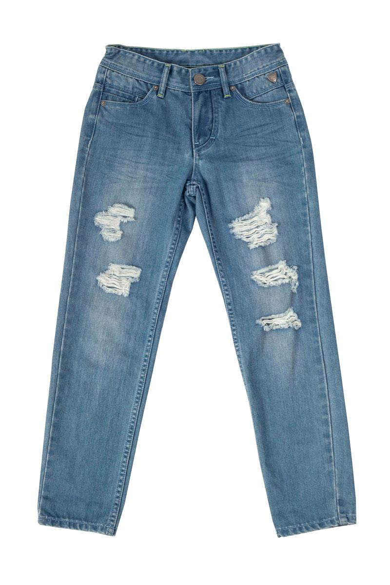 Джинсы для мальчика Бойскаут. 11503BKC630911503BKC6309Стильные джинсы для мальчика Gulliver Бойскаут идеально подойдут вашему моднику. Изготовленные из хлопка с добавлением полиэстера, они мягкие и приятные на ощупь, не сковывают движения и позволяют коже дышать, не раздражают нежную кожу ребенка. Джинсы прямого покроя на талии застегиваются на металлическую пуговицу, также имеются ширинка на застежке-молнии и шлевки для ремня. С внутренней стороны пояс регулируется резинкой на пуговицах. Спереди джинсы дополнены двумя втачными карманами со скошенными краями и маленьким прорезным кармашком, а сзади - двумя накладными карманами. Джинсы оформлены эффектом потертости, перманентными складками и рваным эффектом. Современный дизайн и расцветка делают эти джинсы стильным и практичным предметом детского гардероба. В них ваш ребенок всегда будет в центре внимания!