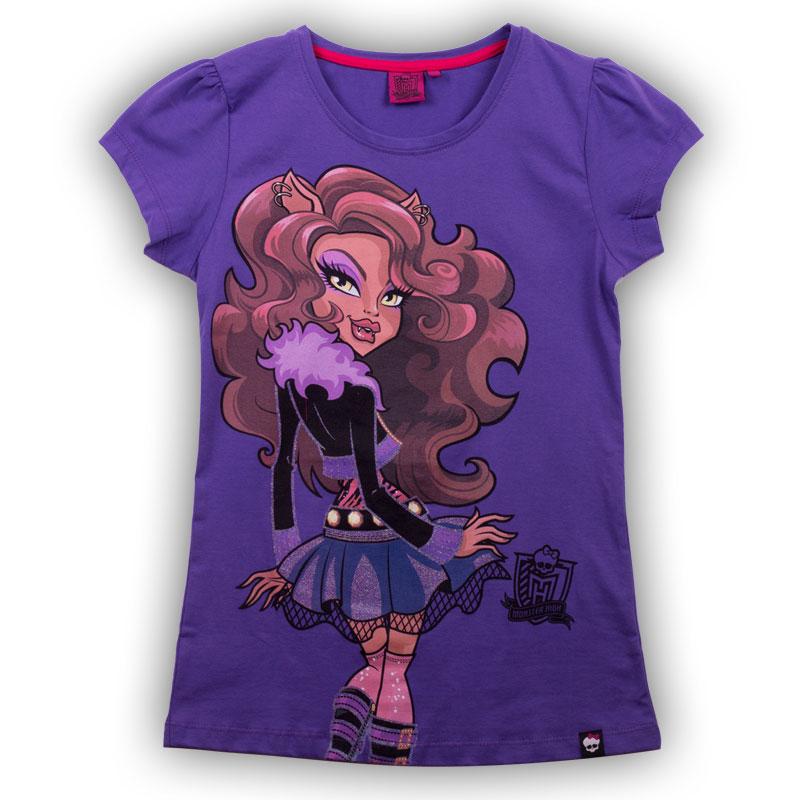 Футболка для девочки. ZG 02424-L2ZG 02424-L2Стильная футболка для девочки Monster High идеально подойдет вашей маленькой моднице. Изготовленная из натурального хлопка, она необычайно мягкая и приятная на ощупь, не сковывает движения ребенка и позволяет коже дышать, не раздражает даже самую нежную и чувствительную кожу, обеспечивая наибольший комфорт. Футболка трапециевидной формы с короткими рукавами-фонариками и круглым вырезом горловины спереди оформлена оригинальным принтом с изображением персонажа мультфильма Monster High. Вырез горловины дополнен трикотажной эластичной резинкой. Оригинальный современный дизайн и модная расцветка делают эту футболку модным и стильным предметом детского гардероба. В ней ваша малышка будет чувствовать себя уютно и комфортно, и всегда будет в центре внимания!