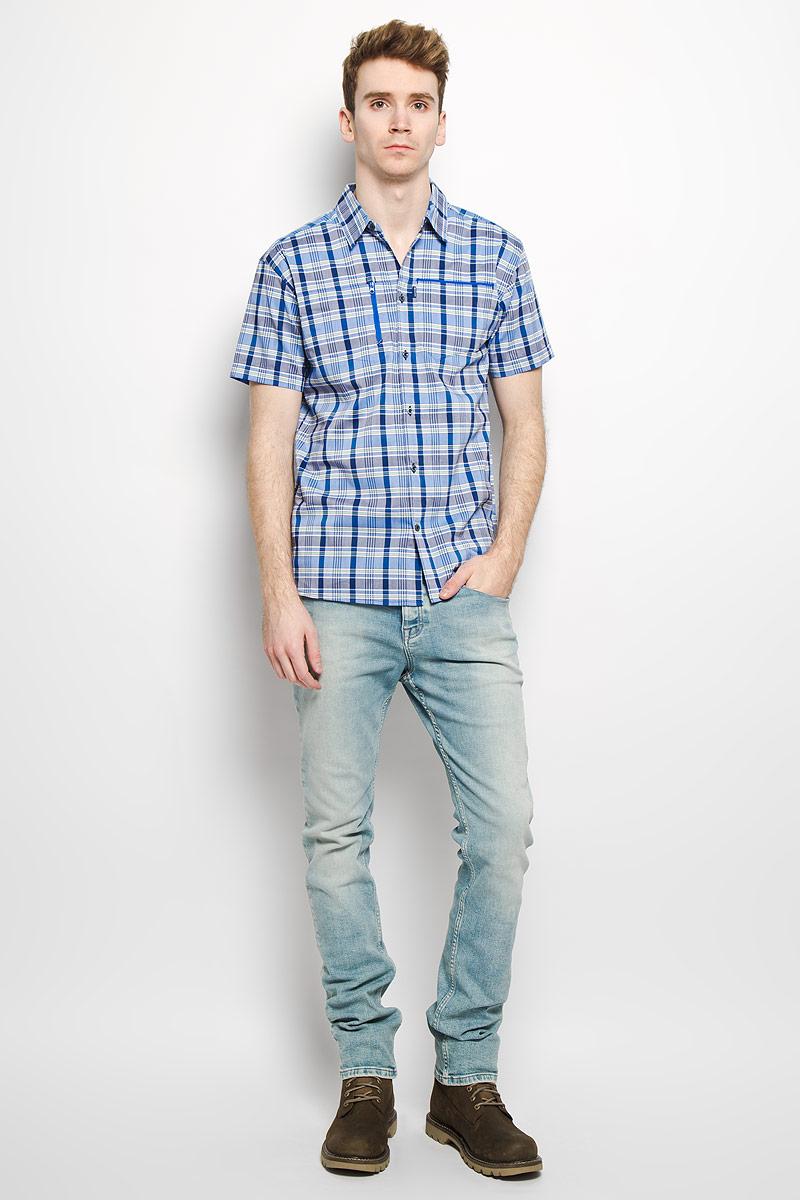 Рубашка мужская Royan SS Shirt. L37087900L37087900Стильная мужская рубашка Salomon Royan SS Shirt, выполненная из высококачественного хлопка с добавлением полиэстера, мягкая и приятная на ощупь, не сковывает движения и позволяет коже дышать, обеспечивая комфорт. Модель с отложным воротником и короткими рукавами застегивается на пластиковые пуговицы по всей длине. Спереди модель дополнена нагрудным карманом на молнии и накладным карманом. Эта модная и удобная рубашка послужит отличным дополнением к вашему гардеробу.