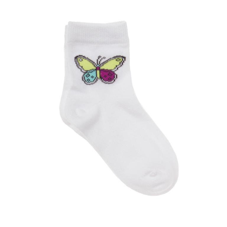 Носки для девочек. 162176162176* сверху мягкая резинка * украшены бабочкой сверху