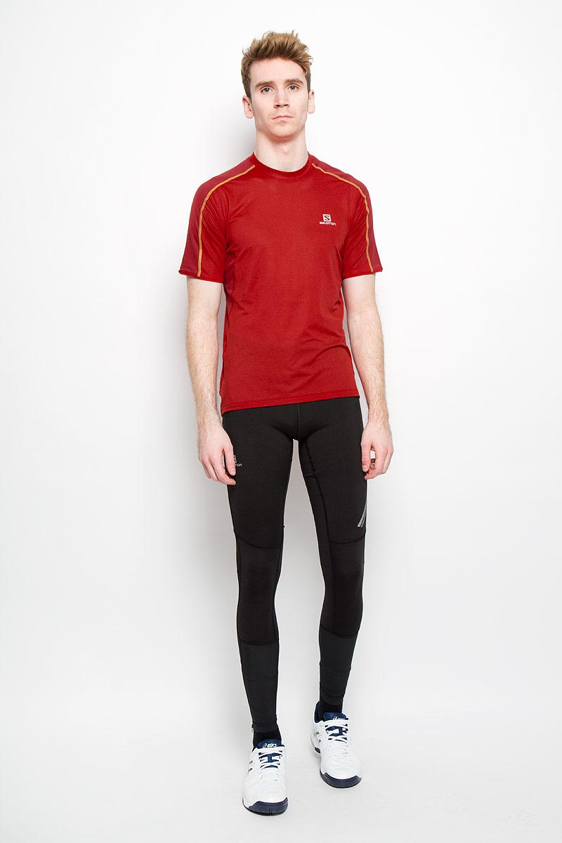 Футболка мужская Trail Runner. L35928000L35928000Мужская футболка Salomon Trail Runner прекрасно подойдет как для занятий спортом, так и для повседневной носки. Легкая футболка из высокотехнологичного дышащего материала обеспечивает отличную вентиляцию во время бега и других интенсивных нагрузок. Плоские швы не натирают кожу и обеспечивают полный комфорт. Фасон рукавов-реглан элегантен и создает свободу движений. Футболка декорирована логотипом бренда. Максимальный комфорт и уникальный спортивный образ!