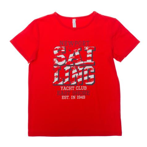 Футболка для мальчиков. 163059163059Яркая базовая футболка с короткими рукавами. Украшена стильным принтом.