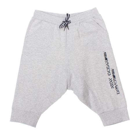 Бриджи для мальчиков. 163071163071Светло-серые бриджи в спортивном стиле с заниженной слонкой. Два глубоких кармана. На поясе широкая резинка.