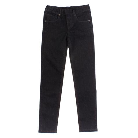 Брюки для девочек. 164006164006Стильные черные джинсы с зауженным силуэтом. Украшены блестящим узором в тон. Есть четыре функциональных кармана.