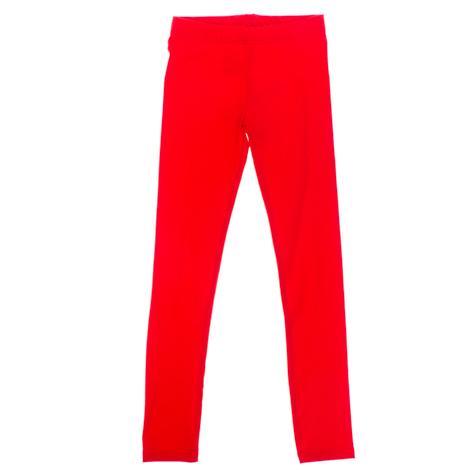 Брюки для девочек. 164018164018Стильные хлопковые леггинсы ярко-красного цвета. Мягкие и эластичные, пояс на резинке.