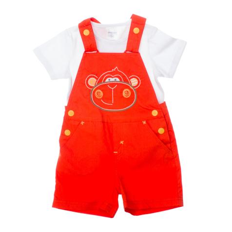 Комплект для мальчика Baby: полукомбинезон, футболка. 167055167055Комплект для мальчика PlayToday Baby, состоящий из футболки и полукомбинезона, идеально подойдет вашему малышу. Изготовленный из высококачественного материала, он необычайно мягкий и приятный на ощупь, не сковывает движения малыша и позволяет коже дышать, не раздражает даже самую нежную и чувствительную кожу ребенка, обеспечивая ему наибольший комфорт. Хлопковый полукомбинезон с высокой грудкой имеет широкие наплечные лямки, регулируемые по длине при помощи кнопок. По бокам он застегивается на кнопки. Также имеется имитация ширинки. Спереди модель дополнена двумя втачными карманами, а сзади - двумя накладными карманами. На груди полукомбинезон оформлен вышивкой в виде головы забавной обезьянки. Классическая футболка с короткими рукавами и круглым вырезом горловины, выполненная из эластичного хлопка, имеет застежки-кнопки на плечах, которые позволяют без труда переодеть ребенка. Вырез горловины дополнен трикотажной бейкой. Оригинальный дизайн и модная расцветка...