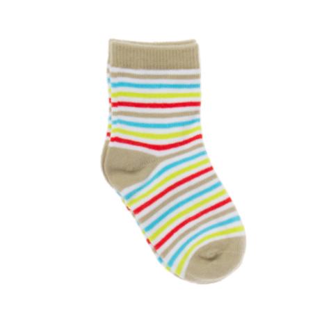 Носки для мальчика. 167076167076Мягкие хлопковые носки в цветную полоску. Верх на резинке.