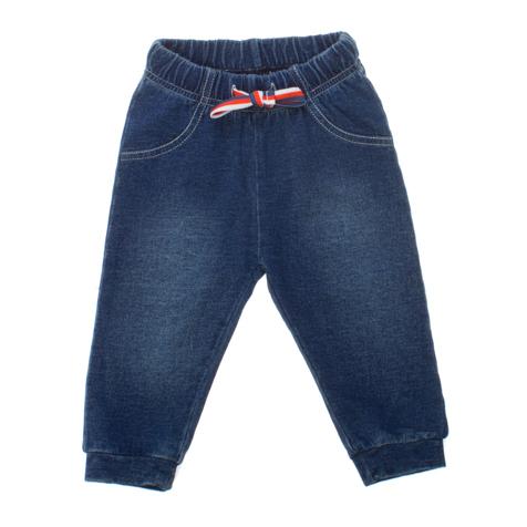 Брюки для мальчика Baby. 167805167805Стильные брюки для мальчика PlayToday Baby идеально подойдут вашему малышу и станут отличным дополнением к детскому гардеробу. Изготовленные из натурального хлопка, они необычайно мягкие и приятные на ощупь, не сковывают движения и позволяют коже дышать, не раздражают нежную кожу ребенка, обеспечивая ему наибольший комфорт. Брюки, стилизованные под джинсы, на талии имеют широкую эластичную резинку с контрастным затягивающимся шнурком, благодаря чему они не сдавливают животик ребенка и не сползают. Спереди модель оформлена имитацией втачных карманов . Снизу брючины дополнены манжетами. В таких брюках ваш маленький модник будет чувствовать себя комфортно, уютно и всегда будет в центре внимания!