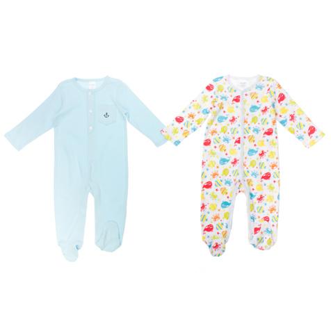 Комбинезон для мальчика Baby, 2 шт. 167806167806Комбинезон для мальчика PlayToday Baby идеально подойдет вашему малышу. Изготовленный из натурального хлопка, он необычайно мягкий и приятный на ощупь, не сковывает движения и позволяет коже дышать, не раздражает даже самую нежную и чувствительную кожу ребенка, обеспечивая ему наибольший комфорт. Комбинезон с длинными рукавами и закрытыми ножками застегивается на металлические застежки-кнопки от выреза горловины до щиколоток, которые позволяют без труда переодеть ребенка или сменить подгузник. В комплект входят два полукомбинезона, один с круглым вырезом горловины дополнен накладным кармашком, оформленным изображением якоря, а другой с v-образным вырезом горловины по всей поверхности оформлен ярким разноцветным принтом. Современный дизайн и расцветка делают эти комбинезоны незаменимым предметом детского гардероба. В них вашему маленькому мужчине будет комфортно и уютно, и он всегда будет в центре внимания!