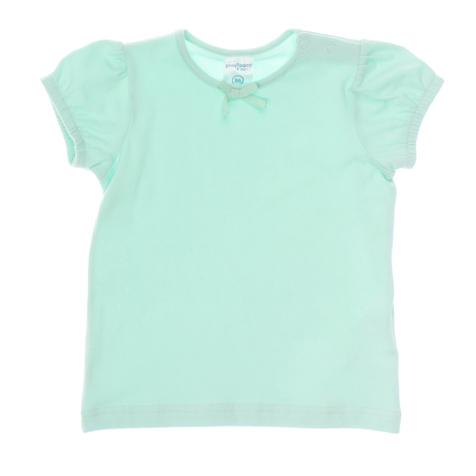 Футболка для девочки Baby. 16806168065Базовая футболка для девочки PlayToday Baby прекрасно подойдет вашей маленькой моднице и станет отличным дополнением к ее гардеробу. Изготовленная из эластичного хлопка, она мягкая и приятная на ощупь, не сковывает движения ребенка и позволяет коже дышать, обеспечивая наибольший комфорт. Футболка с круглым вырезом горловины и короткими рукавами-фонариками имеет застежки-кнопки по плечевому шву, что помогает при переодевании малышки. Низ рукавов стянут резинками. Горловина, обработанная мягкой эластичной бейкой, декорирована небольшим пришитым текстильным бантиком. В такой футболке ваша маленькая принцесса будет чувствовать себя комфортно, уютно и всегда будет в центре внимания!